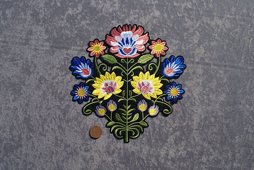 Large Flowers Iron On Patch