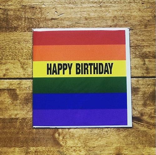 Happy Birthday Rainbow Pride Card