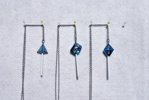 D&D Dice Suckers (Blue/Black Luster)