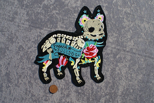 Large French Bulldog Iron On Patch