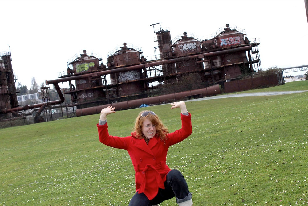Worlds tiniest ginger lifting Gas Works Park with her bare hands...