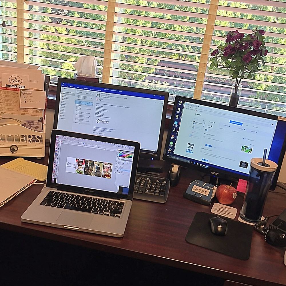My workspace at the office.