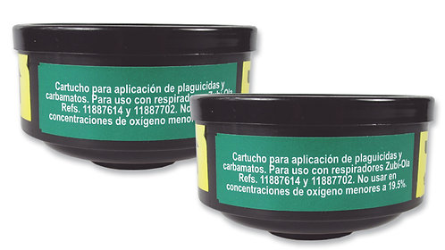 2 Cartuchos Filtrantes B618B para Respiradores Refs.: 11887614 y 11887702