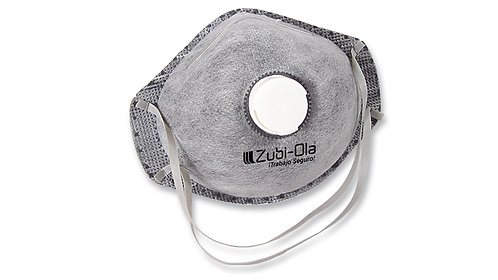 Mascarilla con válvula de exhalación • Caja dispensadora x 10 unidades.