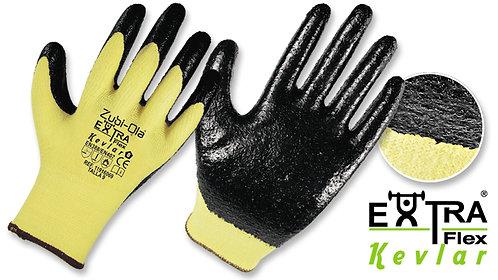 "Guantes Kevlar®/Nitrilo HCT corrugado• ""Extraflex Kevlar"""