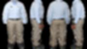 pantalon en dril, uniforme administrativo,