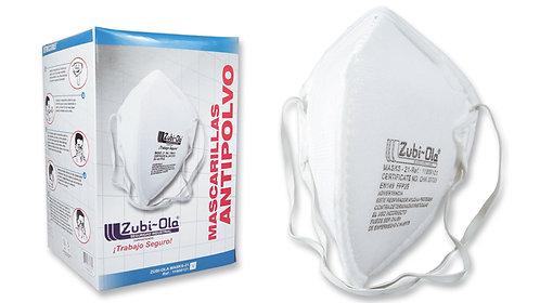 Mascarilla para polvo, termosellada, plegada, desechable• Caja dispensadora x 20
