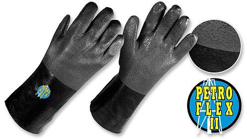 "Guantes PVC Semicorrugados, Uso Industrial, Color Negro • ""PetroFlex II"""