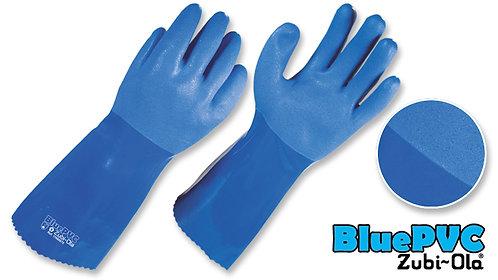 "Guantes Semicorrugados • Uso Industrial • 13"" (33.02cm) • ""Blue PVC"""