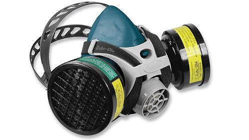 Respirador Media Máscara • Doble Cartucho • Una válvula• INCLUYE 2 CARTUCHOS