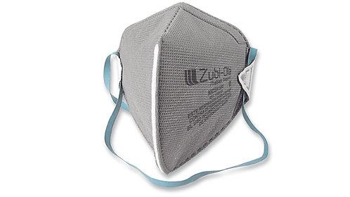 Mascarilla polvo termosellada desechable, plegada•Presentación x5 o x20 Unidades