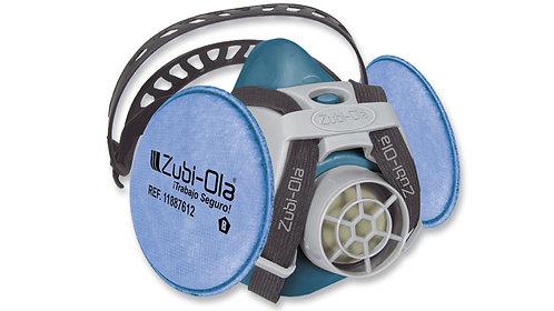 Respirador Media Máscara • Doble Filtro • Una válvula • INCLUYE 2 FILTROS