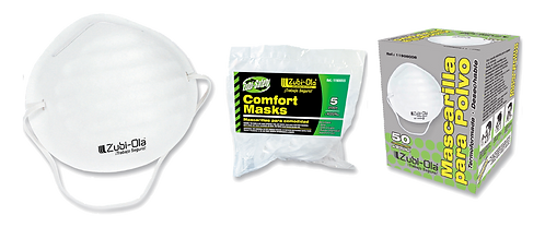 Mascarilla para polvo, termoformada, desechable •Presentación x5 o x50 Unidades