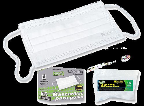 Mascarilla para polvo Rectangular • Desechable x100 Unidades