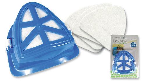 Respirador Reusable para polvo no tóxico • Incluye 5 repuestos