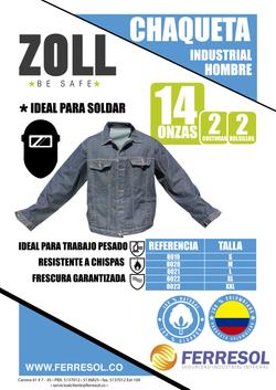 CHAQUETA JEAN INDIGO CALI COLOMBIA