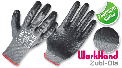 "Guantes Polycotton, recubiertos en Látex • DIP NORMAL • ""WorkHand"""