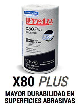 WypAll* X80 Plus Regular Roll Power Pockets