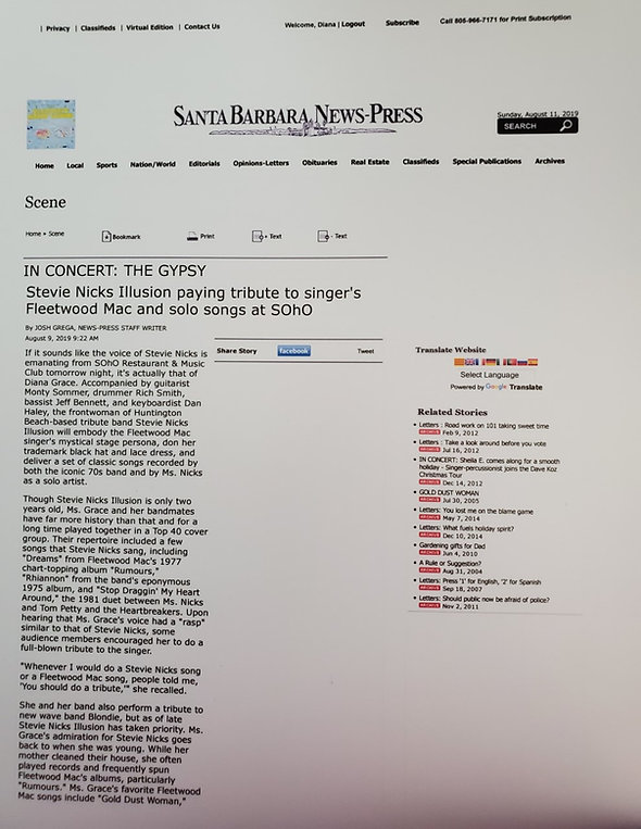 Santa Barbara News Press Interview Augus