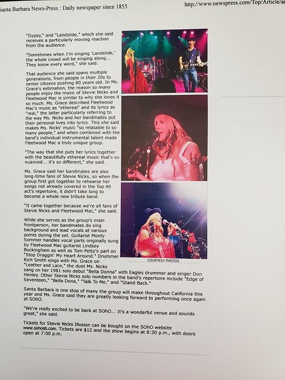 Santa Barbara News Press Interview Page