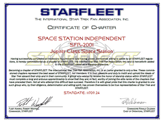 The Space Station Independent gets Commissioned!!
