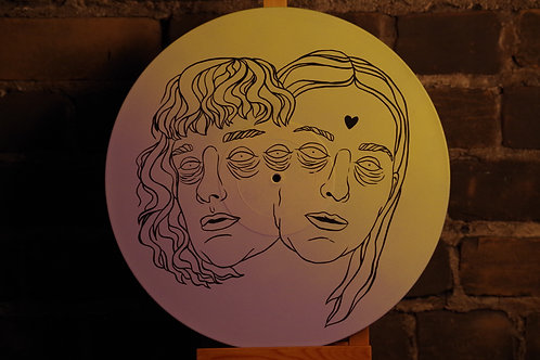 Peinture sur vinyle ''MILK AND BONE''
