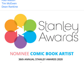 Comic book artist of the year nominee for the 2020 Stanley Awards