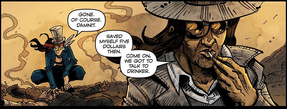 EK: Bone War #3 panel.