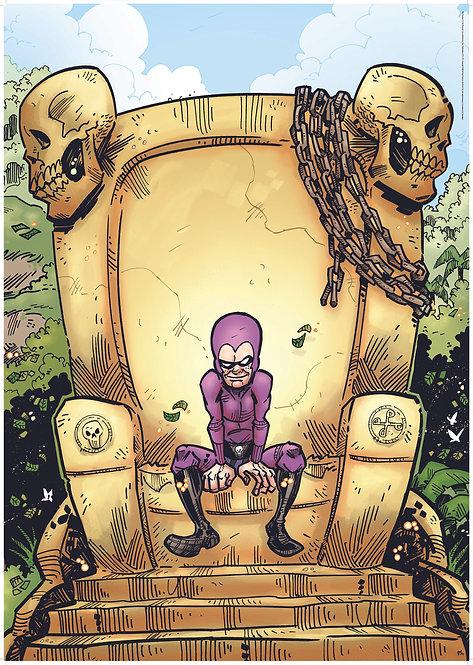 Kid Phantom #2 Dad's Skull Throne poster