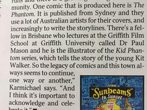 A kind mention in today's Courier Mail