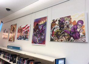 Kid Phantom/Phantom comic on display at Brisbane Square Library