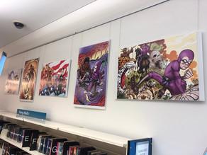 Kid Phantom/Phantom comic on display at Brisbane Square Library