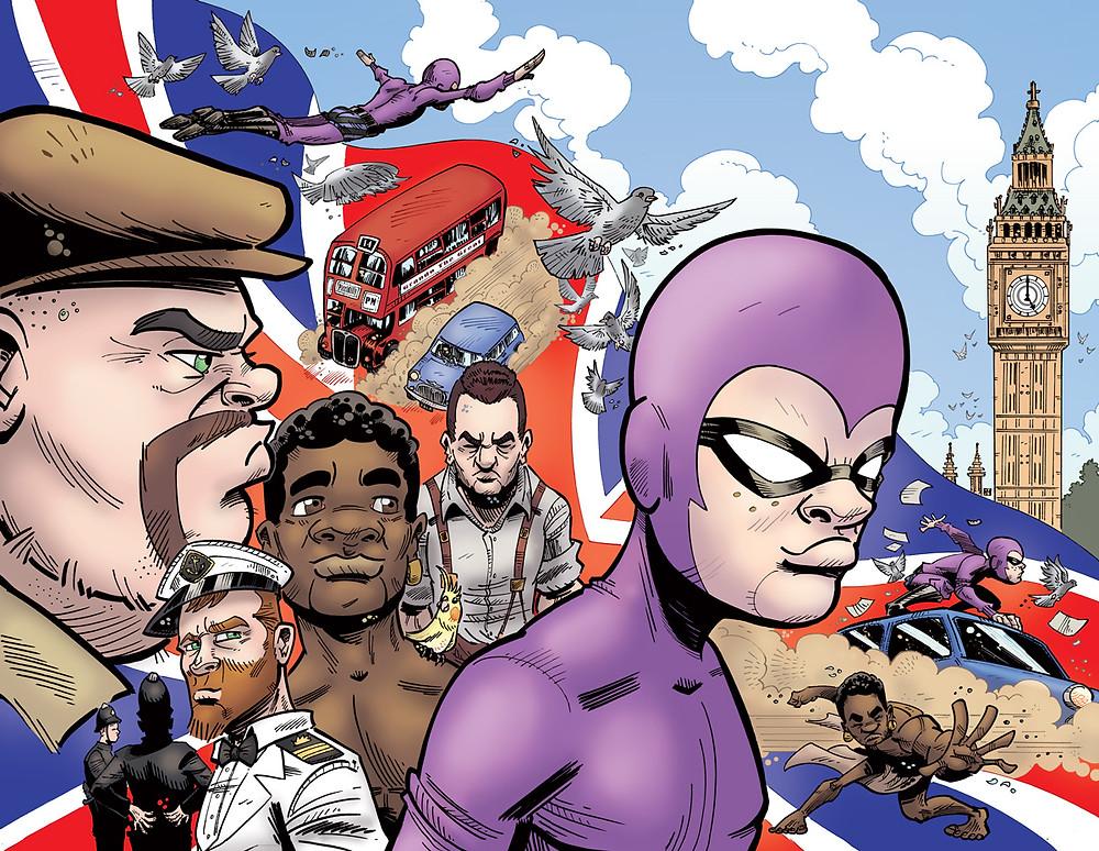 Cover to Kid Phantom #5 by Paul Mason.