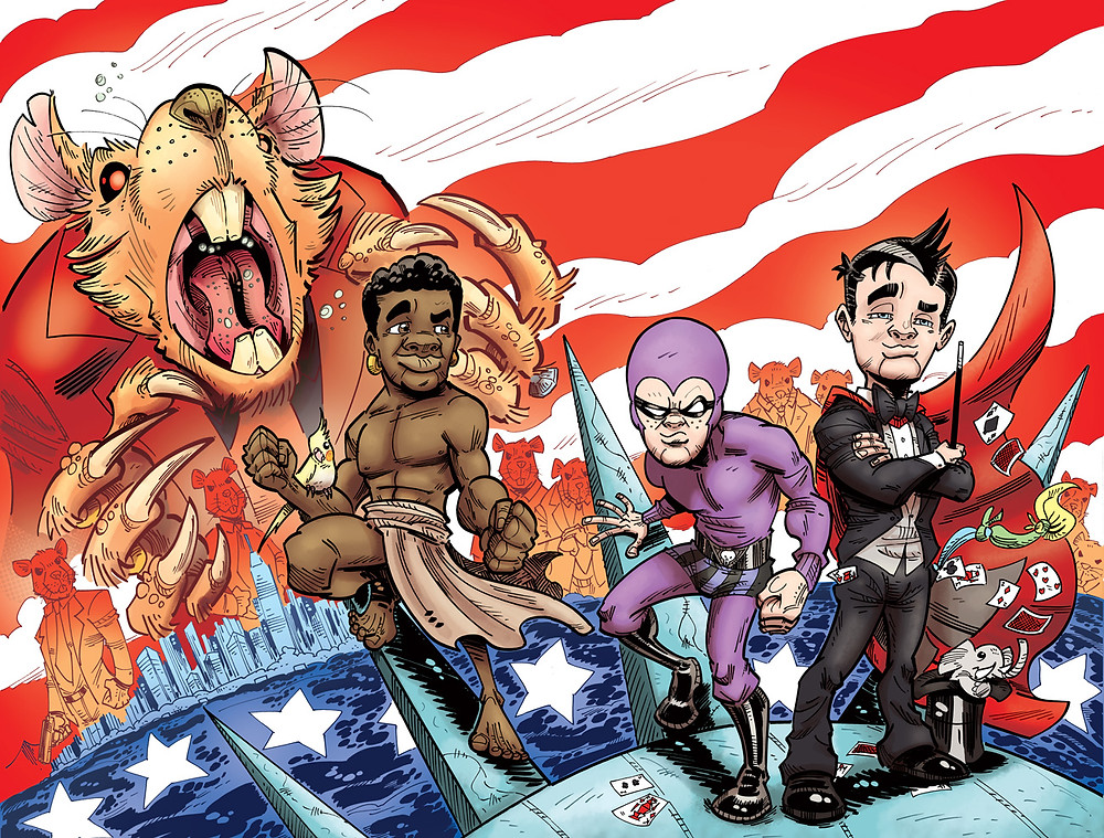 Wraparound cover to Kid Phantom #6 by Paul Mason.