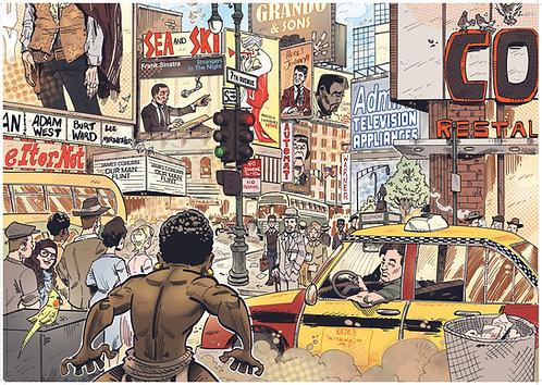 Kid Phantom #6 Times Square A1 poster