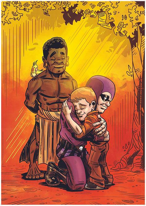Kid Phantom #7 Hugs A1 poster