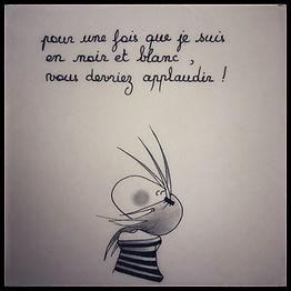 Henriette de Bordeaux en noir et blanc. Dessin humoristique.