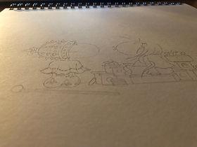 Les dessins de SophieB, Bordeaux, Canson paper