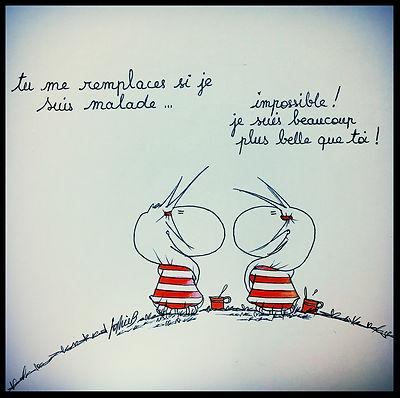 Les dessins de SophieB, Bordeaux, Henriette de Bordeaux, les jumelles, série