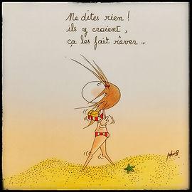 Henriette de Bordeaux à la plage. Illustrations by SophieB