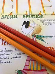 Henriette de Bordeaux en couverture de ELLE. SophieB, illustratrice. Bordeaux.