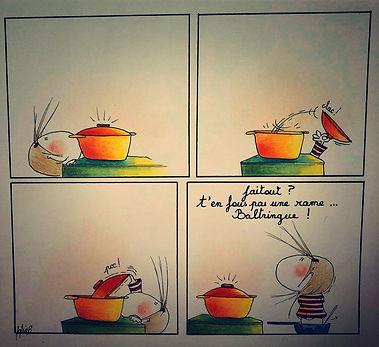 Henriette de Bordeaux & la food, par SophieB (Sophie Bolloré) BORDEAUX. Dessins humoristiques