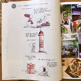 """les dessins de SophieB, """"Bordeaux Madame"""" le mag ! Sophie BOLLORÉ, illustratrice, Bordeaux"""