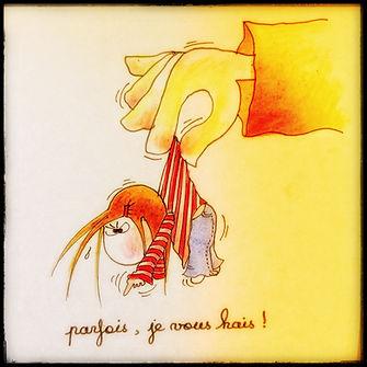 Henriette de Bordeaux, a son caractère. Bordeaux, dessins humoristiques.