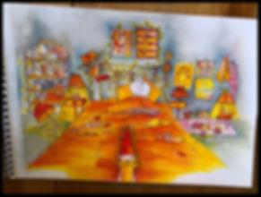 lSophieB dessins sur papier canson, les dessins. Bordeaux