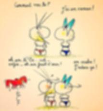 le cancer, les amis, la perception, la gêne. Les dessins de SophieB, Bordeaux.