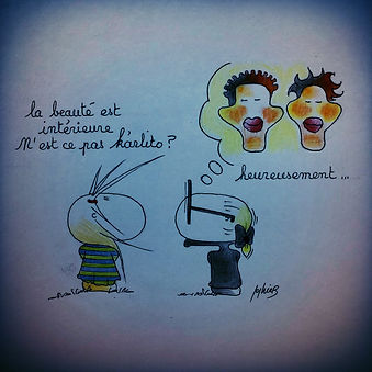 Karl Lagerfeld selon SophieB, série. Humour !