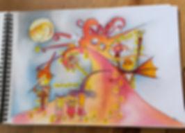 les dessins de SophieB, Bordeaux, Canson, Tim Burton. Sophie Bolloré