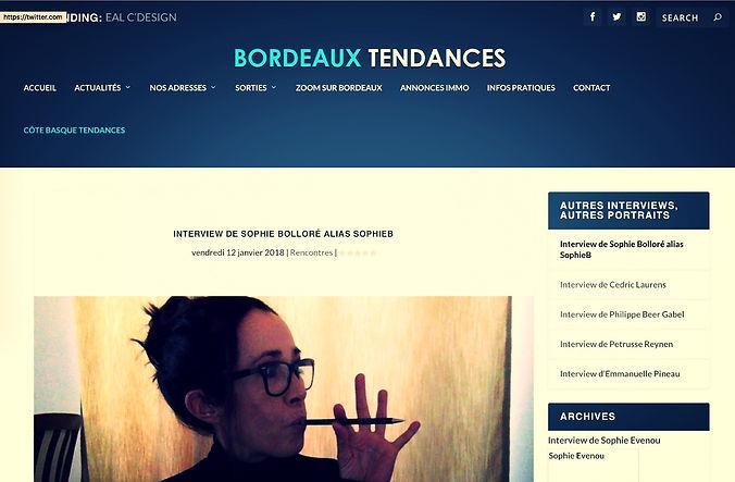 Sophie Bolloré, SophieB, portrait par Bordeaux Tendances
