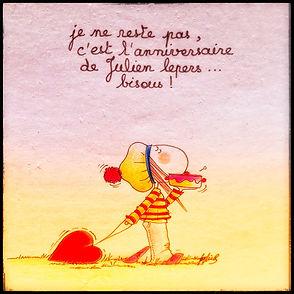 Anniversaire de Julien Lepers, 12 aout. Henriette de Bordeaux y pense !
